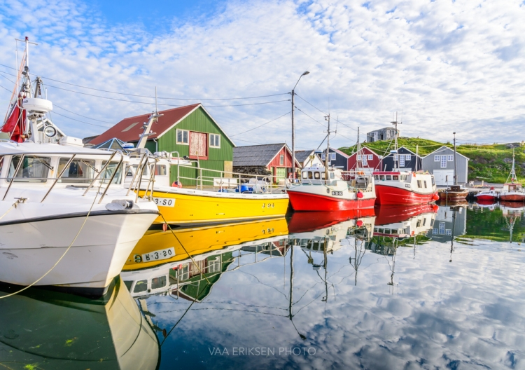 Colourful Fishing Harbour Norway