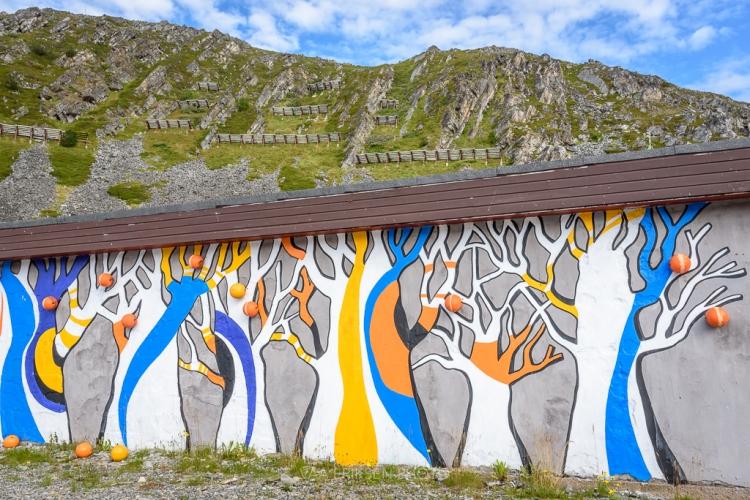 Mural in Kjøllefjord Finnmark Norway