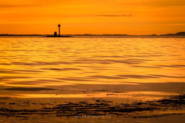 Solnedgang ved Tungenes Fyr
